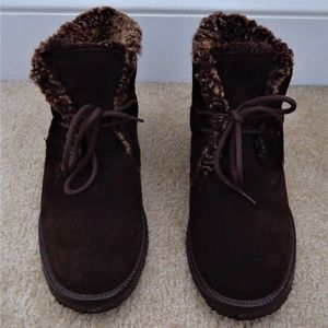 J.CREW Brown Sherpa Lined Suede Chukka Ankle Boot